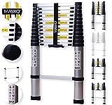 Masko® Teleskopleiter 3,80M ALU Leiter Aluleiter Stehleiter Anlegeleiter Mehrzweckleiter
