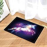 cdhbh Fantasy Bad Teppiche Pegasus Galaxy Einhorn Starlight in Night Sky Rutschfeste Fußmatte Boden Eingänge Innen Vorne Fußmatte Kinder Badematte 39,9x 59,9cm Badezimmer Zubehör