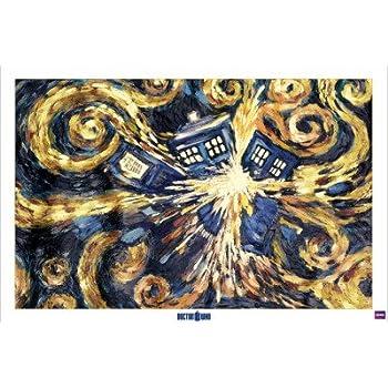 1art1 51196 Poster Doctor Who Tardis Explosant 91 x 61 cm