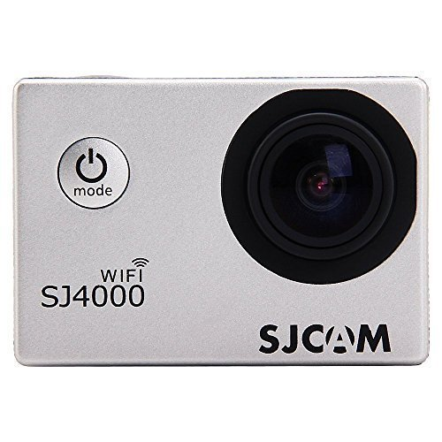 SJCAM SJ4000 WiFi APP Sport Helmet Video Kamera HD 1080P unterwasser 30M 170° (Silbrig) (Kamera Unterwasser Sj4000 Wi Fi)