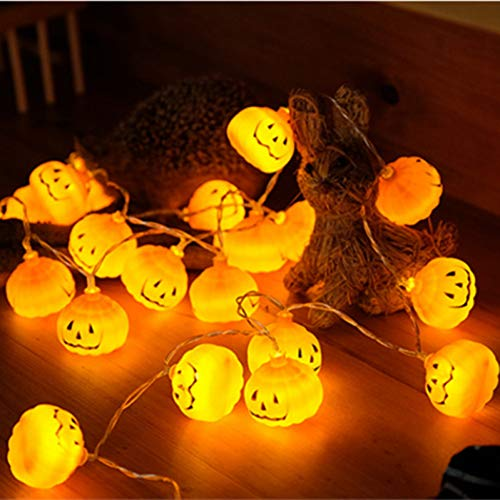 FIREWSJ Halloween Kostüm Dekoration 1 Set Kürbis 10 Led Lichterketten Halloween Deko Licht Warmweiss Halloween Deko Accessoires (Led Licht Kostüm Kleinkind)