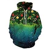 3D Print Galaxy Sterne Weihnachtsbaum Geschenke Hip Hop Trainingsanzug Pullover christmas6 Hoodie XXXL