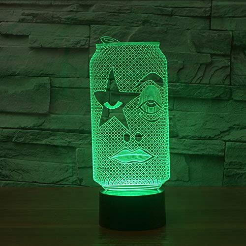 Neuheit 3D Acryl USB Bunte Dosen Tasse Form LED Tischlampe Gradienten Atmosphäre Nachtlicht Schlafzimmer Dekor Schlaf Leuchte