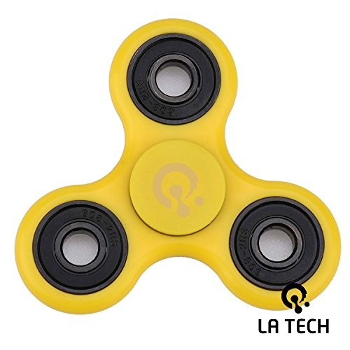 Fidget Spinner Toy Stress Reducer Perfect For ADD ADHD Anxiety and Autism Adult Children (Yellow)