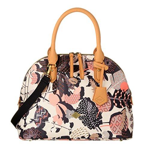 Oilily Damen Umhängetasche Boston Charcoal (weiß schwarz Muster) (Boston Bag Weiße)