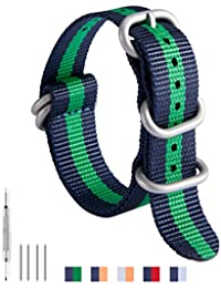 2f360be95425 NATO Zulu Correa De Reloj G10 Balística Reemplazo de Nylon Bandas de Reloj  para Hombre 18mm