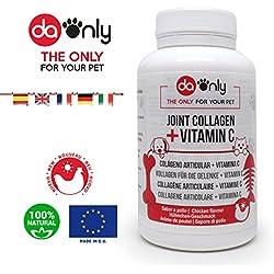 Kollagen Nahrungsergänzungsmittel für Hunde & Katzen mit Hühnchen-Geschmack, natürliche Medikamente für Haustiere bei Arthrose und Gelenkschmerzen von Hund und Katze, Magnesium, Vitamin C & D, Glucosamin-frei von DAONLY