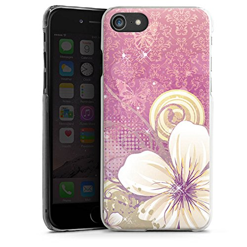Apple iPhone X Silikon Hülle Case Schutzhülle Blüten Blumen Ornamente Hard Case transparent