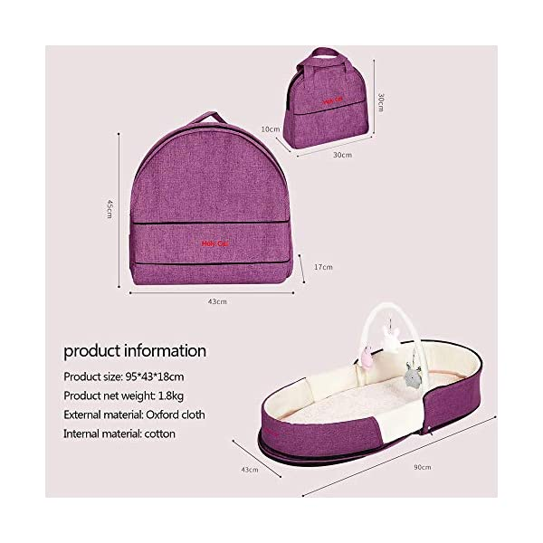 YANGGUANGBAOBEI Multifunctional Baby Nest,for Baby Organic Cotton, Virgin Fiberfill - Breathable Foam Nest For Newborn And Babies- Baby Pod,Green YANGGUANGBAOBEI 【Components】: This portable travel baby bed consists of a bed surrounding, a mattress, a tent, a mosquito net, two dolls, a storage bag attached to the mattress, easy to remove and wash, easy to store. 【Material and design】: The infant bed bassinet was made up of 100% cotton fabric to care for baby's delicate skin. The uterus design gives the baby a quiet, comfortable sleeping space, reducing the frequency of hugs and sleep. 【design】: The 5° gentle slope design of the mattress gently lifts the baby's upper body to protect the baby's spine health and prevent the baby from spitting milk. 6