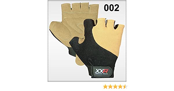 XXR Skin Padded Cycling Gloves MTB Mountain Bike Biker Gloves Fingerless Bicycle