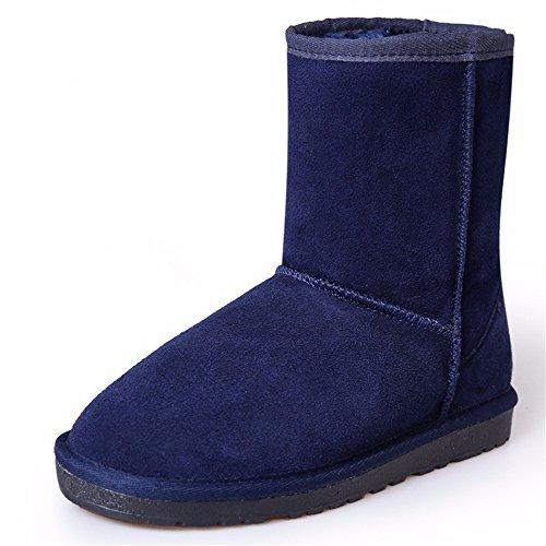 FLYRCX MS tubo corto anti-skid stivali in autunno e in inverno con calda pelle cashmere scarpe piatte C