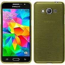 Funda de silicona para Samsung Galaxy Grand Prime - brushed verde pastel - Cover PhoneNatic Cubierta + protector de pantalla