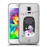 Head Case Designs Einhorn Magische Weihnachten Soft Gel Hülle für Samsung Galaxy S5 Mini