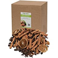 Floral Assortment -100g Whole Star Anise - 200g Cinnamon Sticks - 10 Dried Orange Slices – Christmas Tree Decorations, Wreaths and Florist Supplies