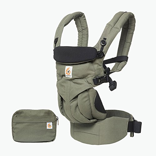 ERGObaby Baby Carrier Newborn to Toddler, 4-Position Omni 360 Khaki Green, Front Back Child Carrier  Ergobaby