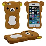 Coque iPhone SE Charmant Ours Forme Série Silicone Gel [ Surface Lisse ] Super Doux...