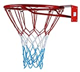 KIMET HangRing Canestro da basket con anello e rete, qualità e sicurezza testate, dimensioni: Ø 45cm e 37cm (a scelta), KIMET 37, 37