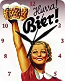 Wanduhr Hurra Bier - Uhr Clock WC 91