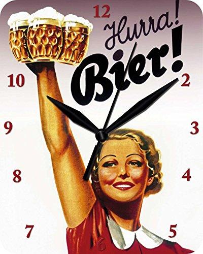Reloj De Pared Hurra cerveza–Reloj Clock inodoro 91
