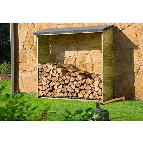Holzaufbewahrung Außen das richtige kaminholzregal für dein brennholz