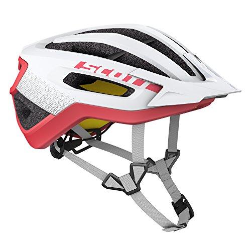 Scott Fuga Plus XC MTB Fahrrad Helm weiß/rot 2018: Größe: L (59-61cm) (Rot Halo-helm)