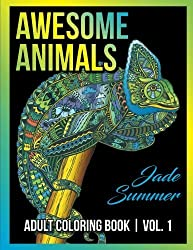 Adult Coloring Books: Awesome Animal Designs and Stress Relieving Mandala Patterns for Adult Relaxation, Meditation, and Happiness (Awesome Animals) (Volume 1) by Jade Summer (2016-08-30)