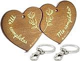 LIKY® Amore Mi completi - Portachiavi Originali in legno inciso coppia innamorati amanti cuore...