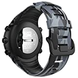 MoKo Armband für Sunnto Core, [Muster Serie]Silikon Sportarmband Uhrenarmband Uhr Erstatzband für Suunto Core Samrtwatch, Armbandlänge 5.51