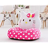 WSA Retail™ Kids Plush Sofa Chair Comfortable Anywhere Carried Used Like Beach Home Terrace Restaurant Kids Favorite Spot To Sit (Hello Kitty Kids Sofa Chair)
