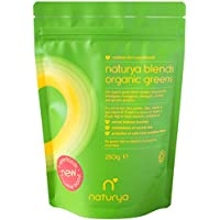 Naturya | Organic Green Superfood Powder Blend 250g | Alkaline, Vegan, Gluten-Free Superfood Powder