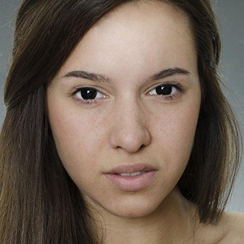 Eye Effect farbige Kontaktlinsen schwarz ohne Stärke + gratis Kontaktlinsenbehälter (black) - für Halloween, Karneval, Fastnacht, Fasching, Kostüm-fest - Dämon, Vampir, Geist, Metatron