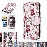 LA-Otter Coque Apple iPhone 5 5S Se Ours Flip Case Housse Etui à Rabat Folio Motif...