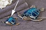 Casablanca Schildkröte 'Josie' aus Poly blau/silber 10 cm 59973