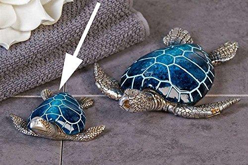 Casablanca Schildkröte Josie Poly,blau/Silber L.10cm