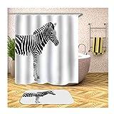 Aeici Badteppich 40X60 Zebra Toiletten Teppich Vorleger Polyester Badewannenvorhang Textil Bunt...