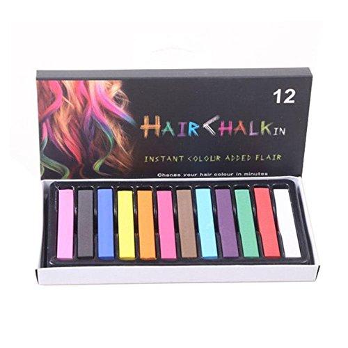 Kobwa 12 Color Hair Chalk Set für Halloween, Kostüme, Performance-Styling, Erstellen Sie Einen Funky Look