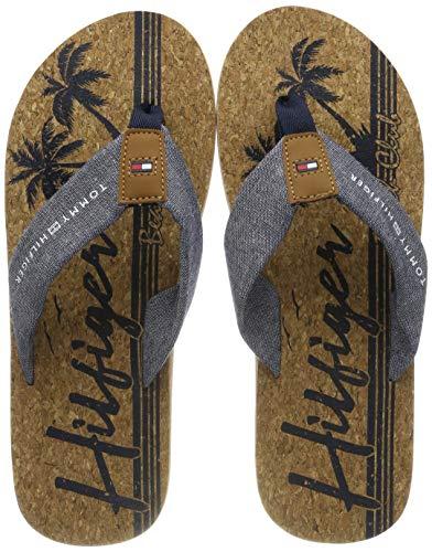 Tommy Hilfiger Chambray Beach Sandal, Infradito Uomo, Blu (Midnight 403), 41 EU