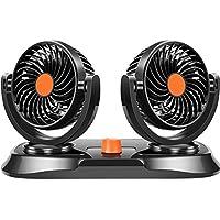 Coche Ventilador Doble Cabeza 24 V Gran Camión Potente Mudo Molino De Viento Refrigeración Interior Coche Ventilador Eléctrico