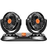 Auto-Ventilator-Doppelter Kopf 24V Großer LKW-Starker Stummer Windmühle-Innenkühlungs-Auto-Elektrischer Ventilator