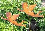 Blümelhuber Gartenstecker Engel Set 60cm Metall Rost Gartendeko Edelrost