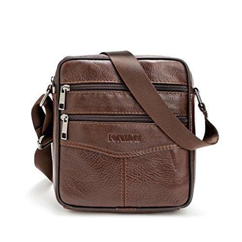729461df39 HANDSOME-LUO Borsello Uomo Tracolla - Uomo Borsa a Spalla Borsa a Tracolla  in PU Pelle Messenger Bag By