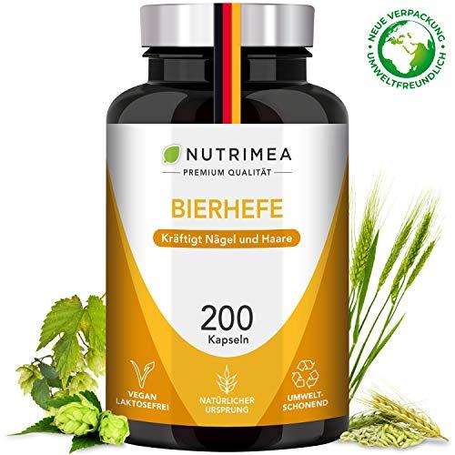 Bierhefetabletten Bierhefe + Selen + Zink Tabletten 100% Natürliche Aktivhefe Premium Qualität - Nahrungsergänzungsmittel Vitamine für schöne Haare, gesunde Haut + kräftige Nägel - Vegan
