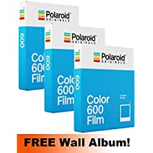Polaroid Originales 600 color película Triple Pack (24 disparos) + incluye álbum de pared.