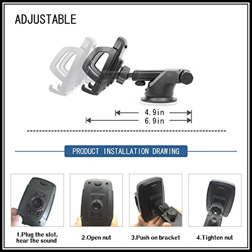 Universale 360 ° Air Vent mobile phone Car Holder per iPhone 8/iPhone/iPhone 6/iPhone 7/X/6plus/6s/6/5, Samsung Galaxy S6 S8 S7 note 8/5/4/3, HTC, Nokia, LG G6, Huawei, Oppo e altri smartphone mobile  car holder