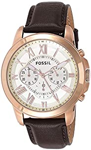 Fossil Sport Watch Analog Display Quartz for Men FS4991, Brown