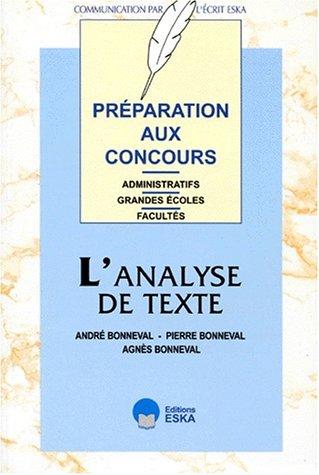 L'analyse de texte par A. Bonneval