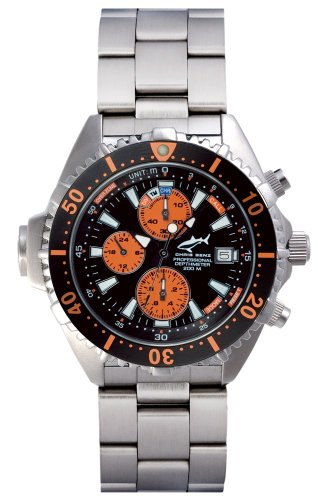 Chris Benz Depthmeter Chronograph CB-C-ORANGE-MB Men's watch Depth Gauge