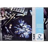 van Gogh BLACK WATER COLOR PAPER - schwarzes Aquarellpapier 12 Blatt / 360 g/m²