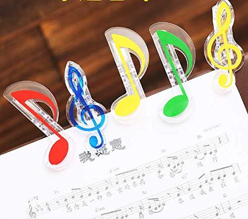 VIDOO Musik-Clips Musik-Clips Kleine Notizen Musikclips Universal Clips 10Pcs-Blue (A)