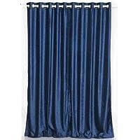 Anello blu navy/occhielli tenda di velluto/Tessuto/TV–Piece, Velluto, Navy Blue, 80 x 108 pollici